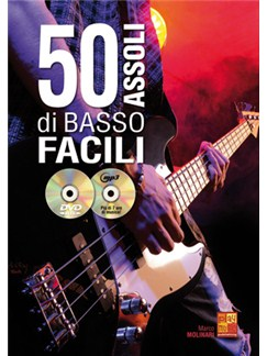 Marco Molinari: 50 Assoli Di Basso Facili (Libro/CD/DVD) Books, CDs and DVDs / Videos | Bass Guitar