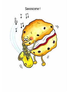 Mildew Design: Saxoscone! - Greeting Card  | Saxophone