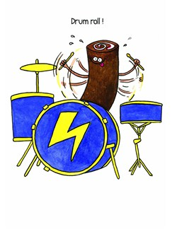 Mildew Design: Drum Roll! - Greeting Card  | Drums