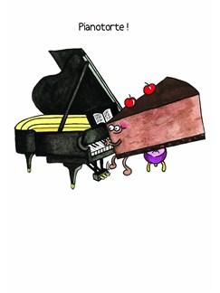 Mildew Design: Pianotorte! - Greeting Card  | Piano
