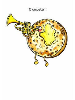 Mildew Design: Crumpeter! - Greeting Card  | Trumpet