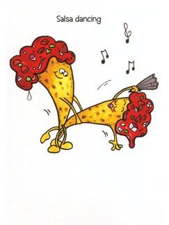 Mildew Design: Salsa Dancing - Greetings Card  |