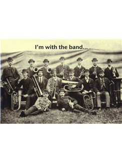 Mildew Design: I'm With The Band - Greeting Card  |