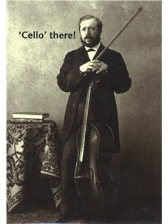 Mildew Design: Cello There - Greeting Card  |