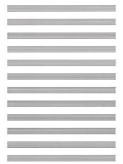 Carta da Musica (Cuadernillo, Papier à Musique) Books | Piano