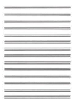 Carta da Musica (Cuadernillo, Papier à Musique) Bog | Klaver solo