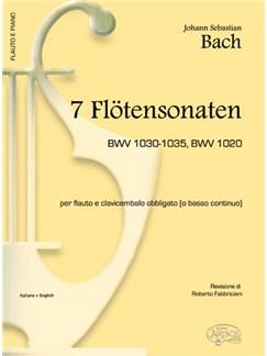 J.S. Bach: 7 Flötensonaten Bwv 1030-1035, Bwv 1020, per Flauto e Clavicembalo Obbligato (o Basso Continuo) Books | Flute, Piano