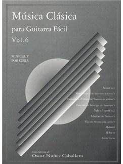 Música Clásica para Guitarra Fácil, Volumen 6 Books   Guitar