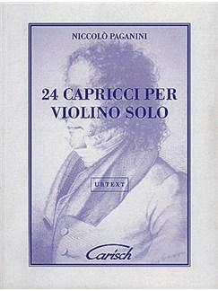 Niccolò Paganini: 24 Capricci, per Violino Solo Libro | Violín
