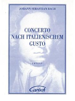 Johann Sebastian Bach: Concerto Nach Italianischem Gusto, for Cembalo Livre | Piano