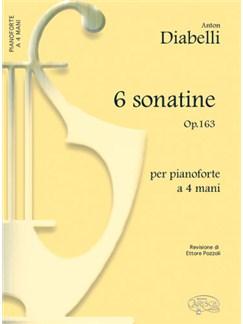 Anton Diabelli: 6 Sonatine, Op.163, per Pianoforte a 4 Mani Livre | Piano Duo