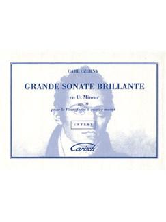 Carl Czerny: Grande Sonate Brillante en Ut Mineur Op.10 pour Piano à 4 Mains Books | Piano Duet