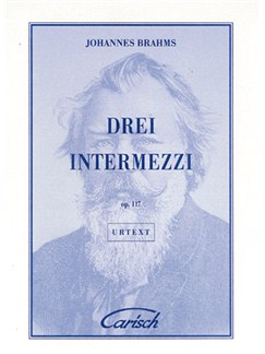 Johannes Brahms: Drei Intermezzi, Op.117, for Piano Books | Piano