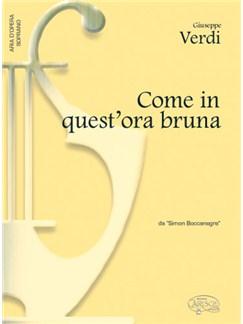 Giuseppe Verdi: Come in quest'ora bruna, da Simon Boccanegra (Soprano) Books | Piano & Vocal