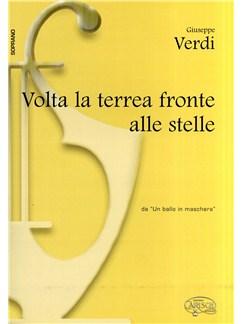 Giuseppe Verdi: Volta La Terrea Fronte Alle Stelle Books | Piano & Vocal