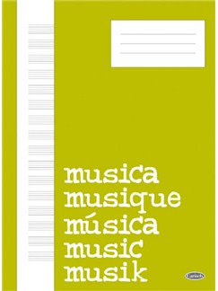 Quaderno di Musica (Block, Cahier de Musique) Libro | All Instruments
