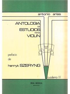 Antología de Estudios para Violín Volumen 3, Grado Medio Libro | Violin