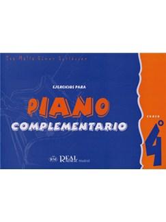 Iniciación Al Piano: Ejercicios Para Piano Complementario, Curso 4° Books | Piano
