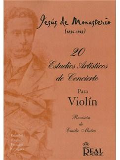 Jesús de Monasterio: 20 Estudios Artísticos de Concierto para Violín Libro | Violin