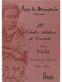 Jesús de Monasterio: 20 Estudios Artísticos de Concierto para Viola Books | Viola