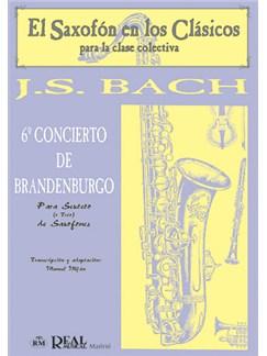 Johann Sebastian Bach: Concierto de Brandeburgo n.6, para Sexteto o Trío de Saxofones Libro | Saxophone