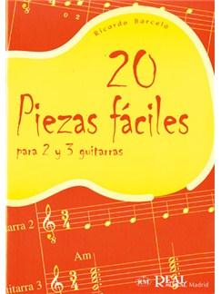 20 Piezas Fáciles para 2 y 3 Guitarras Libro | Guitar