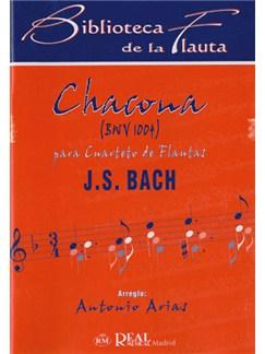 Johann Sebastian Bach: Chacone BWV 1004 para Cuarteto de Flautas Libro | Flute