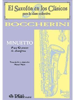 Luigi Boccherini: Minuetto para Quinteto de Saxofones Libro | Saxophone