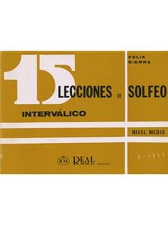 15 Lecciones de Solfeo Interválico, Nivel Medio Libro | All Instruments