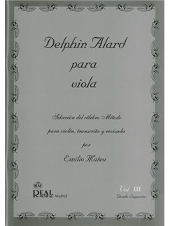 Delphin Alard para Viola, Vol.3 - Grado Superior Libro | Viola