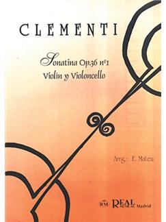 Muzio Clementi: Sonatina Op.36 No.1, para Violín y Violoncello Libro | Cello, Violin