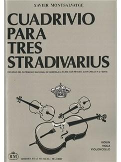 Xavier Montsalvatge: Cuadrivio para Tres Stradivarius para Violín, Viola y Violoncello Books | Trio