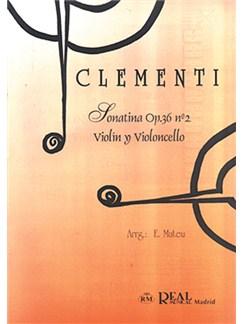 Muzio Clementi: Sonatina Op.36 No.2, para Violín y Violoncello Libro | Cello, Violin