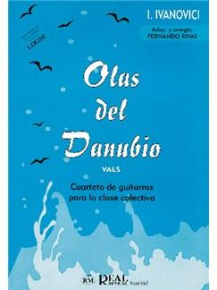Iosif Ivan Ivanovici: Olas del Danubio (Vals), Cuarteto de Guitarras para la Clase Colectiva Libro | Guitar