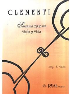 Muzio Clementi: Sonatina Op.36 No.1, para Violín y Viola Libro | Viola, Violin
