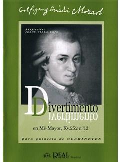 Wolfgang Amadeus Mozart: Divertimento en Mib Mayor KV252 No.2 para Quinteto de Clarinetes Libro | Clarinet