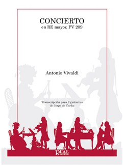 Antonio Vivaldi: Concierto en Re Mayor PV 209 para 2 Guitarras Books | Guitar (Duet)