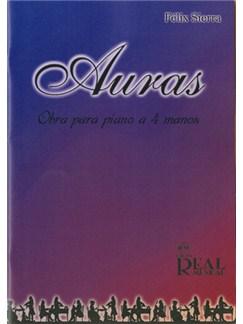 Félix Sierra: Auras, Obra para Piano a 4 Manos Libro | Piano Duet