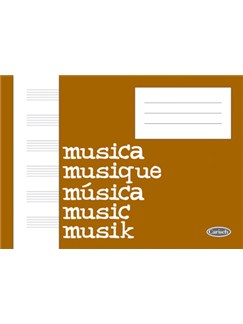 Quaderno Di Musica (Block, Cahier De Musique) Books | All Instruments