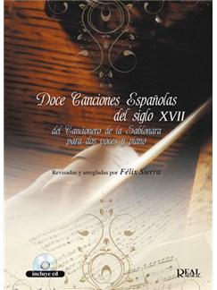 Doce Canciones Españolas del Siglo XVII, del Cancionero de la Sablonara. Para dos voces y piano Books and CDs | Piano & Vocal