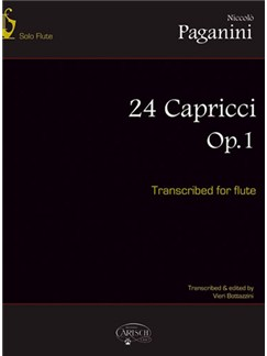 Niccolò Paganini: 24 Capricci Op.1 (Transcibed for Flute) Books | Flute