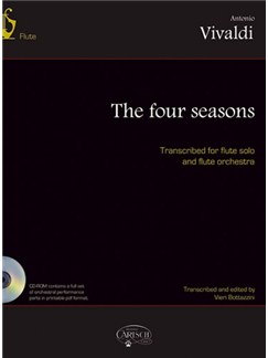 Antonio Vivaldi: The Four Seasons, transcribed for flute solo and flute orchestra. Books and CD-Roms / DVD-Roms | Flute, Orchestra