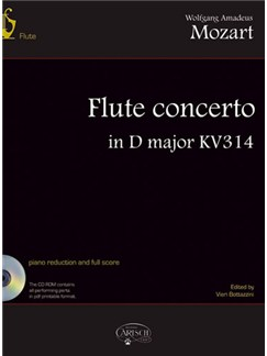 Wolfgang Amadeus Mozart: Flute Concerto in D Major KV 314 Books and CD-Roms / DVD-Roms | Flute, Orchestra