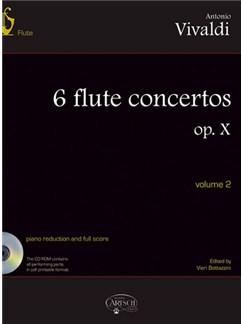 Antonio Vivaldi: 6 Flute Concertos Op. X, Volume 2 Books and CD-Roms / DVD-Roms | Flute, Orchestra
