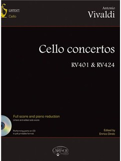 Antonio Vivaldi: Cello Concertos RV 401 & RV 424, Volume 1 Books and CD-Roms / DVD-Roms | Cello