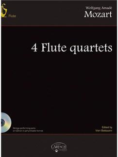 Wolfgang Amadeus Mozart: 4 Flute Quartets Books and CD-Roms / DVD-Roms | Flute
