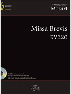Wolfgang Amadeus Mozart: Missa Brevis KV220 Books and CDs | Choral