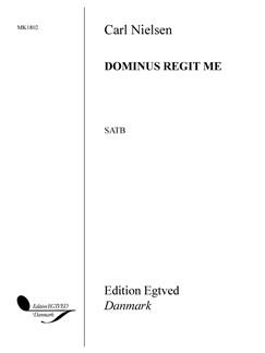 Carl Nielsen: Dominus Regit Me Op.55/2 (SATB) Bog | SATB