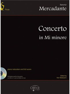 Saverio Mercadante: Concerto in Mi Minore Books and CD-Roms / DVD-Roms | Flute