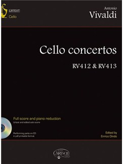 Antonio Vivaldi: Cello Concertos RV412 & RV413, Volume 2 Books and CD-Roms / DVD-Roms | Cello